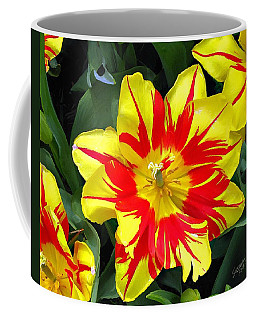 Yellow Red Flower Coffee Mug