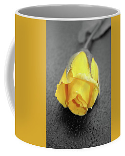 Yellow Rose Coffee Mug by Angel Jesus De la Fuente