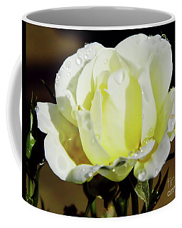 Yellow Rose Dew Drops Coffee Mug