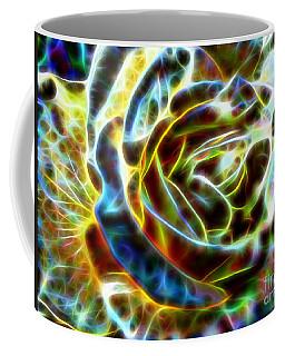 Yellow Rose Fractal Coffee Mug