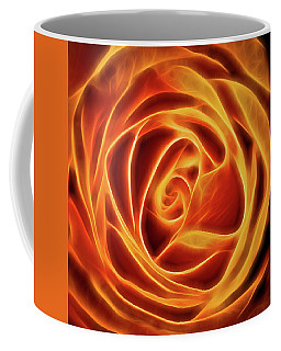 Yellow Rose Glow Square Coffee Mug by Terry DeLuco