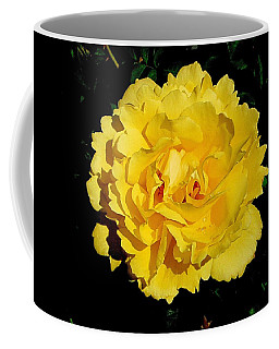 Yellow Rose Kissed By The Rain Coffee Mug