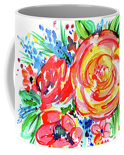 Yellow Rose Red Coffee Mug