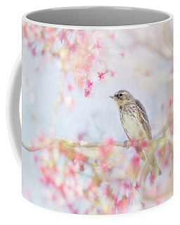 Yellow-rumped Warbler In Spring Blossoms Coffee Mug