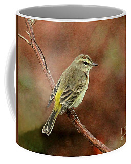 Yellow-rumped Warbler Coffee Mug by Myrna Bradshaw
