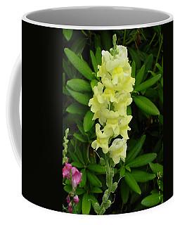 Yellow Snapdragon Coffee Mug by Shirley Heyn