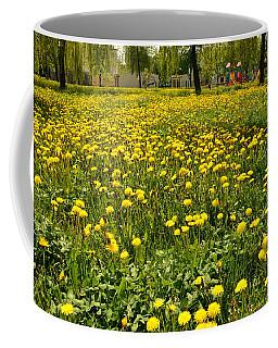 Yellow Spring Carpet Coffee Mug by Henryk Gorecki