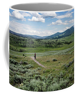 Coffee Mug featuring the photograph Yellow Stone Mountains by Mae Wertz