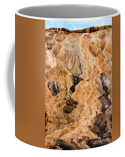 Coffee Mug featuring the photograph Yellow Stone National Park Abstract by Mae Wertz