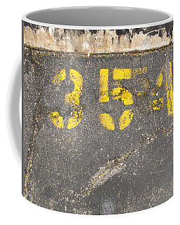 Yellow Three Five Five Four Coffee Mug