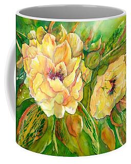 Yellow Peony Flowers Coffee Mug