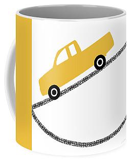 Yellow Truck On Road- Art By Linda Woods Coffee Mug