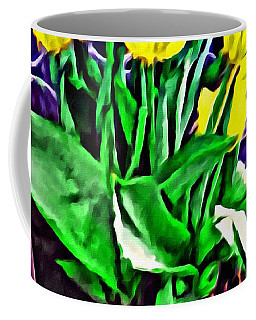 Coffee Mug featuring the painting Yellow Tulips by Joan Reese