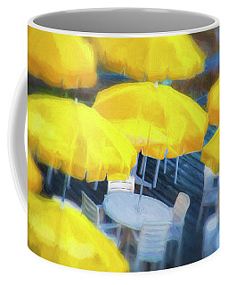 Yellow Umbrellas Coffee Mug