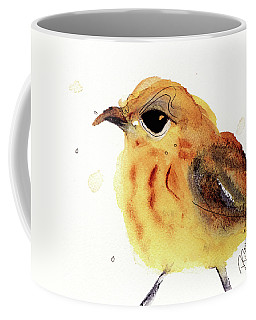 Coffee Mug featuring the painting Yellow Warbler by Dawn Derman