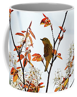Yellow Warbler Coffee Mug by Debbie Oppermann