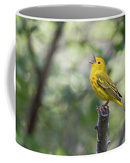 Yellow Warbler In Song Coffee Mug