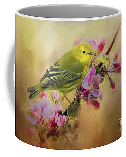 Yellow Warbler In The Flowers Coffee Mug
