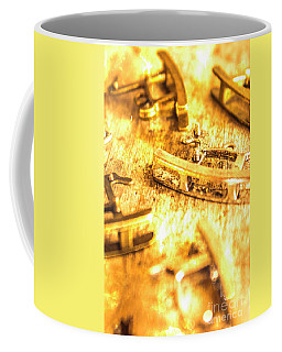 Yellow Weathered Rockers Coffee Mug