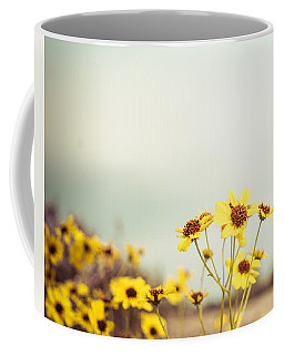 Coffee Mug featuring the photograph Yellow Wildflowers by Mary Hone