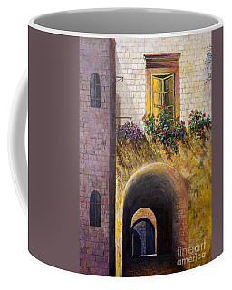 Yellow Window Coffee Mug by Lou Ann Bagnall
