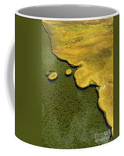 Yellowstone Art. Yellow And Green Coffee Mug