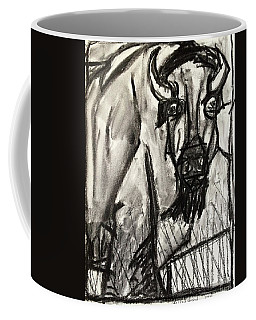 Coffee Mug featuring the drawing Yellowstone by Brenda Pressnall