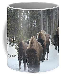 Yellowstone Buffalo Herd  Coffee Mug