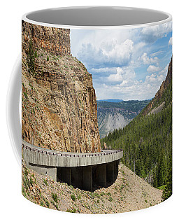 Coffee Mug featuring the photograph Yellowstone Drive by John M Bailey