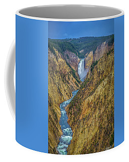 Coffee Mug featuring the photograph Yellowstone Falls by Scott McGuire