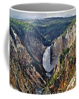 Yellowstone Falls Seen From Artist Point Coffee Mug
