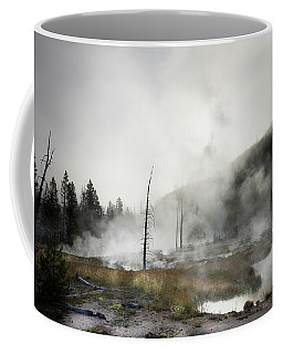 Yellowstone Morning Fog Coffee Mug