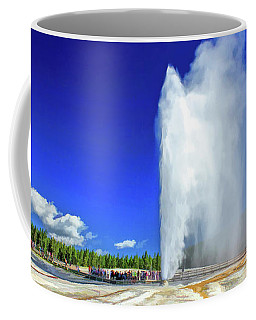 Coffee Mug featuring the painting Yellowstone National Park Beehive Geyser by Christopher Arndt