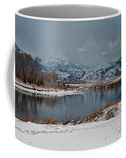 Yellowstone River In Light Snow Coffee Mug