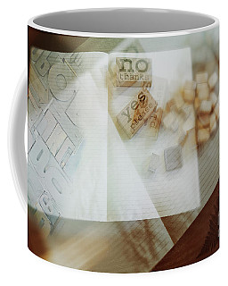 Coffee Mug featuring the digital art  Yes Or No by Ariadna De Raadt