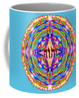 Coffee Mug featuring the painting Yhwh Mandala 3 18 17 by Hidden Mountain