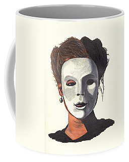 Coffee Mug featuring the drawing Yin And Yang by Jean Haynes