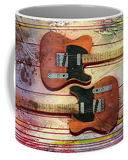 Coffee Mug featuring the painting Yin-yang Teles by Andrew King