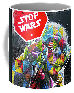 Yoda - Stop Wars Coffee Mug