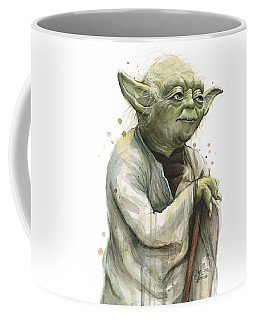 Yoda Watercolor Coffee Mug