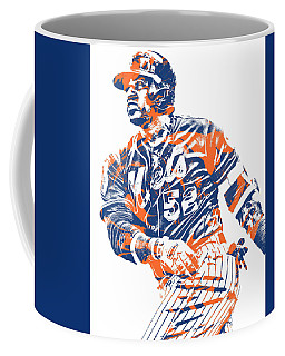 Yoenis Cespedes New York Mets Pixel Art 10 Coffee Mug