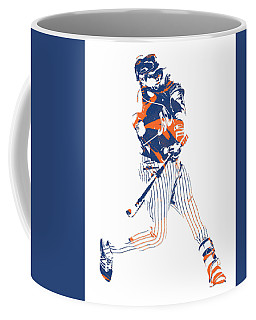 Yoenis Cespedes New York Mets Pixel Art 2 Coffee Mug
