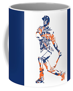 Yoenis Cespedes New York Mets Pixel Art 4 Coffee Mug