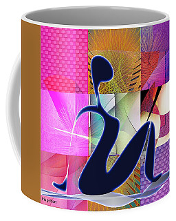 Coffee Mug featuring the digital art Yoga  8 by Iris Gelbart
