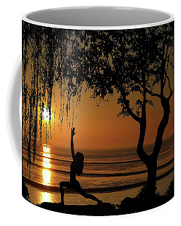 Yoga By The Bay At Sunset Coffee Mug