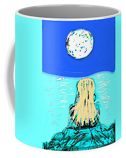 Yoga By The Sea Under The Moon Coffee Mug