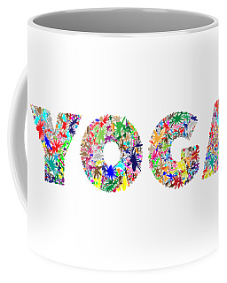 Yoga Word Art Coffee Mug