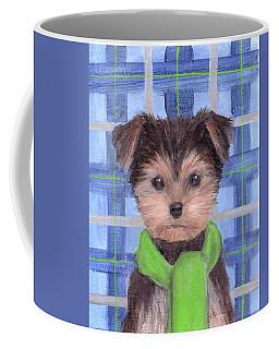 Yorkie Poo With Scarf Coffee Mug
