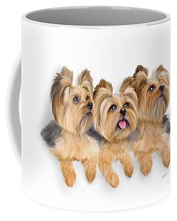 Yorkie Trio Coffee Mug