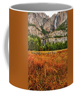 Yosemite Falls Autumn Colors Coffee Mug